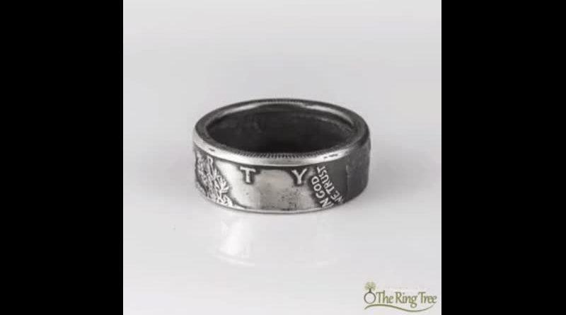 Так делается стильное кольцо из американского четвертака.