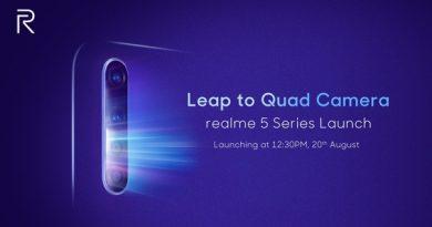 Официально: Realme 5 с Quad-камерой будет представлен