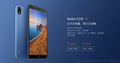 Цена Redmi 7A – нового ультрабюджетного хита