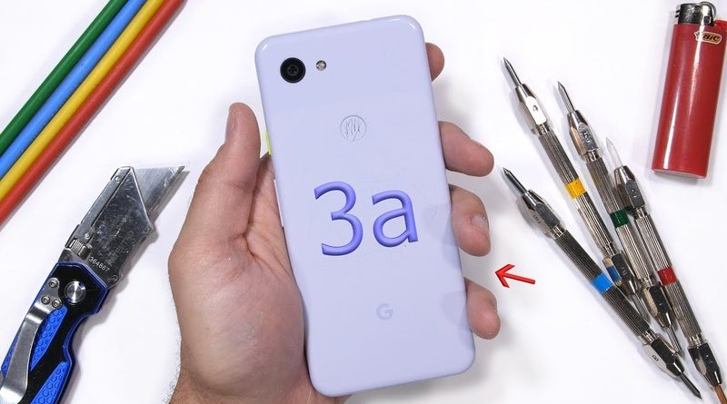 Google Pixel 3a погнули, поцарапали и подожгли