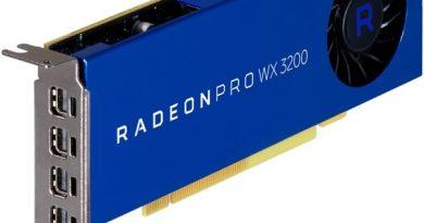 AMD Radeon Pro WX 3200: недорогой ускоритель