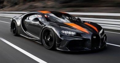 Гиперкар Bugatti Chiron преодолел рубеж скорости 300