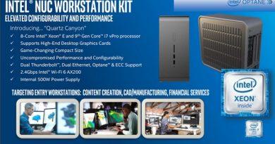 Мини-компьютеры Intel NUC Quartz Canyon поддерживают установку